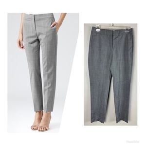 Reiss Claris row straight leg tailored trousers